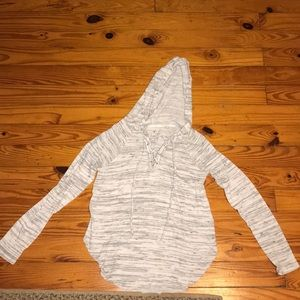 Tops - Long sleeve shirt with hood size small